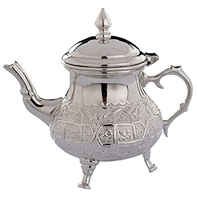 Théière traditionnelle marocaine gravée - Service à thé et café