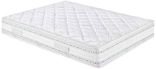 Eminflex -  Pisa Materasso, Touch Foam e Memory Foam, tre strati ad onda,  Bianco,  A Una Piazza e Mezza,  140x190