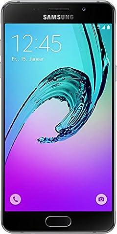 Samsung Galaxy A5 2016 Smartphone débloqué 4G (Ecran: 5,2 pouces - 16 Go - Simple Nano-SIM - Android) Noir (import Allemagne)