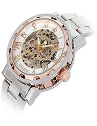 Mecánica mano de viento impermeable reloj hombre Romano puntero Classic Reloj de Muñeca Esqueleto hombre okn62