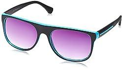 Joe Black Black & Green Wayfarer Sunglasses (JB-487|C1)