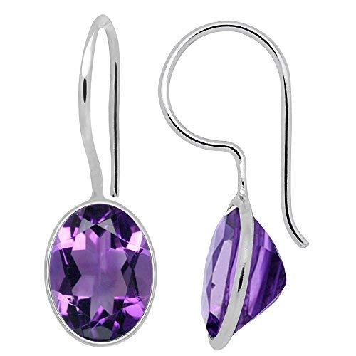 Orchid Jewellery Amethyst-Anhänger mit Halskette, Sterling-Silber 925, Amethyst, 4,65 kt - Ring, Halskette, Geburtsstein Charms