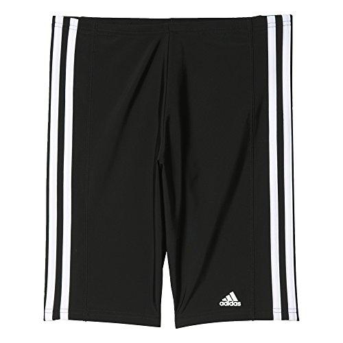 adidas Jungen Infinitex Essence Core 3-Stripes Jammer-Badehose, Black/White, 140