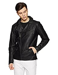 United Colors of Benetton Mens Synthetic Jacket (17A2FSIC2043I_Black_EL)