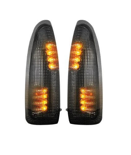 264120BK Smoked Lens RECON Ford F250//F350 Super Duty and Excursion Side Mirror Lenses w// LED Amber Turn Signals