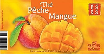 Shen Nong - Thé Noir Pêche Mangue - Lot De 3 X 25 Sachets De 1,8G