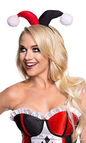 Rubie's Offizielles Harley Quinn-Kostüm für Erwachsene, mit Haarband-Zubehör (Offizielle Harley Quinn Kostüm)