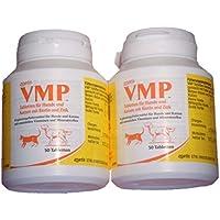 VMP Tabletten für Hund und Katze, 2x Dose a 50 Tabletten, ORIGINAL!, hoher Gehalt an Biotin und Zink, Haut, Fell, Knochenaufbau, Stress