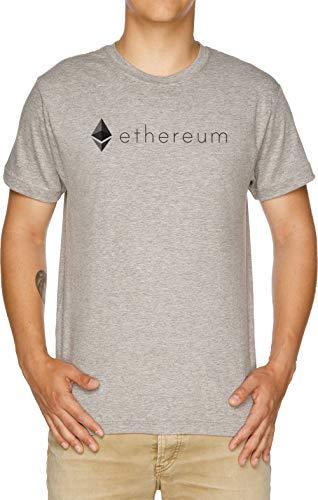 Vendax Ethereum Logo Camiseta Hombre Gris
