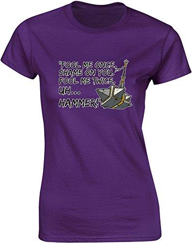 fool-me-once-mesdames-t-shirt-imprime-pourpre-blanc-transfert-2xl-98-102cm