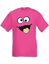 Keks Monster Unisex T-Shirt Gruppen Kostüm Karneval Fasching Verkleidung Party JGA