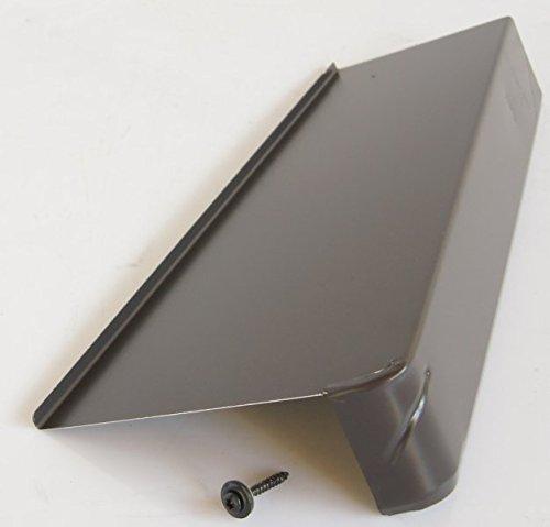 Briel Windschutz-Ortgang Aluminium B-Granit 6/16 links incl. Spenglerschraube