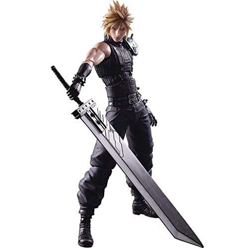 Siyushop Final Fantasy Cloud Strife Play Arts Kai Action Figure - Claude Action Figure - Equipped with Weapons and Replaceable Hands - High 27CM