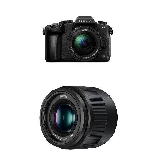 Get Panasonic DMC-G80MEB-K Compact System Camera with H-H025E-K 25 mm/F1.7 ASPH Lens  Bundle on Line