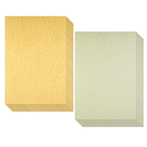 Biging, carta pergamena invecchiata in finta cartapecora antica, perfetta per scrivere, 50fogli in formato a4