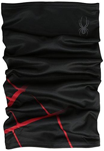 Spyder Lifestyle-Maglietta da uomo Hot sci tubo nero, Uomo, schwarz/rot, Taglia unica