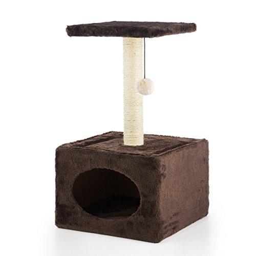 arbre-griffoir-pour-chats-avec-maisonnette-marron