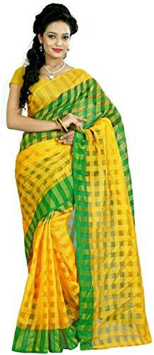stylish sarees fancy desiner cotton checks saree