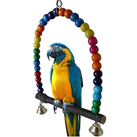 LIANCHI Petite ou grande taille Perroquet Jouet Pure Naturelles Perle Cage Parrot Chewing Toy(Large)