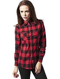 Urban Classics TB388 Damen Hemd Ladies Checked Flanell Shirt