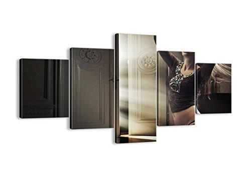 Leinwandbilder - fünf Teile - Breite: 125cm, Höhe: 70cm - Bildnummer 2141 - fünfteilig - mehrteilig - zum Aufhängen bereit - Bilder - Kunstdruck - EA125x70-2141 ()