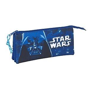 "Safta Estuche Escolar Star Wars ""Neon"" Oficial 220x30x100mm 12"