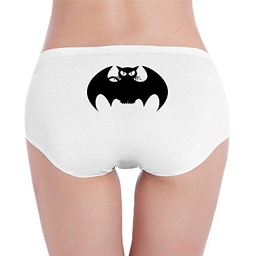 Sophie Warner batcat Batman Funny Frauen Lady Mädchen Kostüme Mini Shorts Panty Hipster Slip Unterhose Set Baumwolle Gr. M, Weiß - Weiß (Superman Kostüm Für Teenager Mädchen)