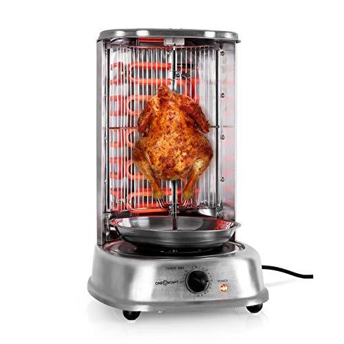OneConcept Kebab Master - Parrilla vertical giratoria, Pollo, Gyros, Pincho giratorio verical, Grill...