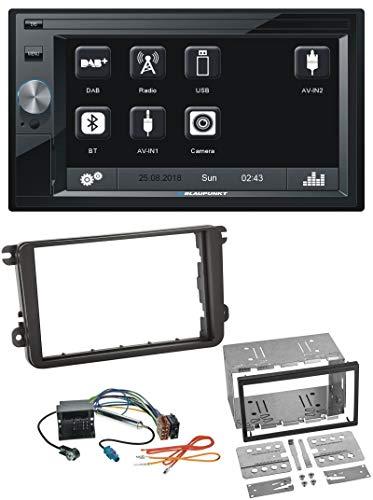 caraudio24 Blaupunkt Oslo 370 SD Bluetooth USB 2DIN MP3 DAB Autoradio für Skoda Praktik Superb Yeti