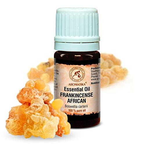 Weihrauch Öl Afrikanisch 5ml - 100% Naturreines Ätherisches Weihrauchöl - Boswellia Carterii - Somalia - Besten Für Beauty - Wellness - Aromatherapie - Olibanum Öl Von Aromatika