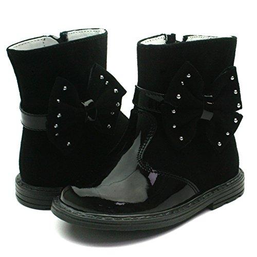 SB160 Studio BIMBI Baby Boots w/zip High for Girls >      > bottes hautes de bébé avec zip pour les filles Black (noir)