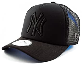 Trucker Adjustable New York NY Yankees Tonal Clean Trucker Black New Era Cap 9Forty Size Adjustable