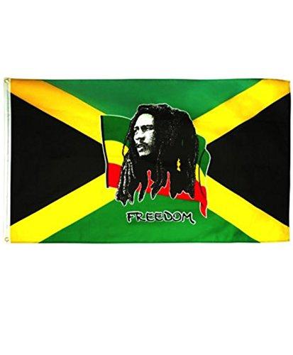 rasta4rea Löwe von Judah Afrika - BOB MARLEY JAMAIKA FREIHEIT - Rasta Fahne