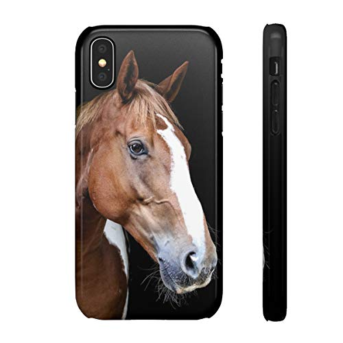 blitzversand 3D Handyhülle Sunset Horse kompatibel mit Huawei Mate 9 Lange Nase Pferd braun Glossy HD Glänzend Schutz Hülle Case Bumper Plastik M13