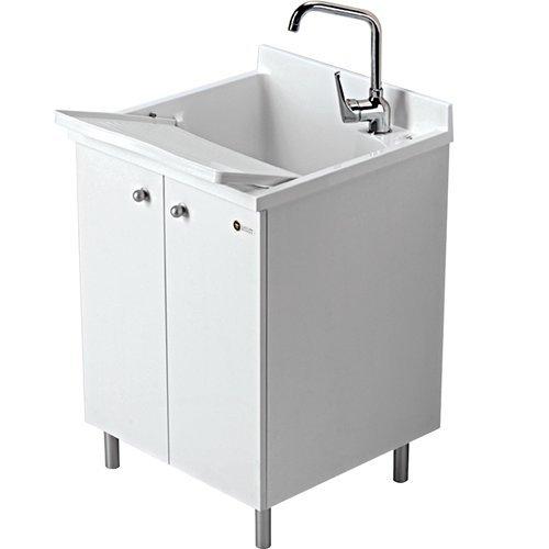 lavatoio-montegrappa-look-one-60x60-bianco-pomolo-grigio-c-asse-termoplastico