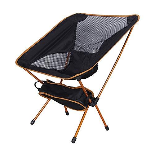 MM&KK Chaise de Plage Pliante extérieure Ultra légère Lune Chaise Spatiale Aviation Tube en Aluminium Chaise de pêche Paresseux, Orange