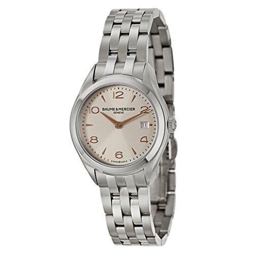 Baume & Mercier Clifton / orologio donna / quadrante argentato con finitura satinata soleil / cassa e bracciale acciaio