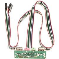 IPOTCH USB Audio Port Mic Cable para Auriculares Computadora Frontal para PC Puertos duales Cable USB - Verde-6.8cm