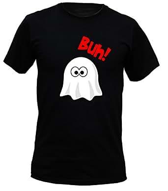 halloween t shirt lustiges halloween gespenst buh gruseliges spr che shirt f r die. Black Bedroom Furniture Sets. Home Design Ideas