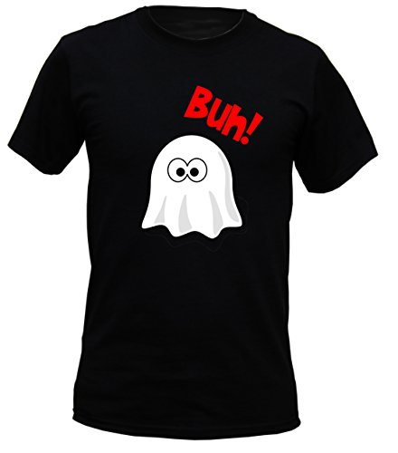 Lustiges Halloween Gespenst - Buh! - gruseliges Sprüche Shirt für die Halloween Party ()
