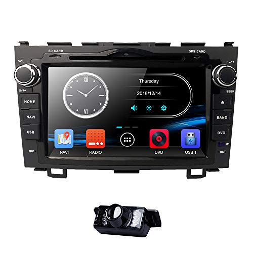 8 inch Digital Touch Screen Car Radio 2Din Stereo in Dash for Honda CRV C-RV Support GPS Navigation Bluetooth DVD CD Player RDS Radio Steering Wheel Control USB Subwoofer AUX CAM-IN (Rv-bluetooth-stereo -)