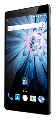 Odys Pluto 7 X610169 17,7 cm (6,98 Zoll) HD IPS Display Phablet (1,1 GHz Qualcomm Snapdragon 210 MSM8909 Quad Core, 1GB RAM, 16GB HDD, Qualcomm Adreno 304 GPU, BT 4.1, Android 6) schwarz