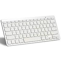 لوحة مفاتيح بلوتوث لاجهزة ابل ايباد ايباد برو، ايفون 6/6اس وغيرها من الأجهزة التي تدعم البلوتوث(ابيض)