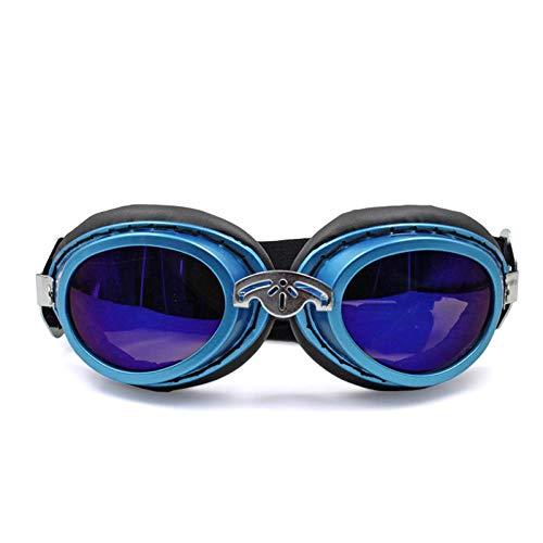 HUYDLD Heimtierbedarf Hund Sonnenbrille Faltbare Haustier Hund Brille Windschutzbrille Für Kleine Und Mittlere Hundezubehör Blau