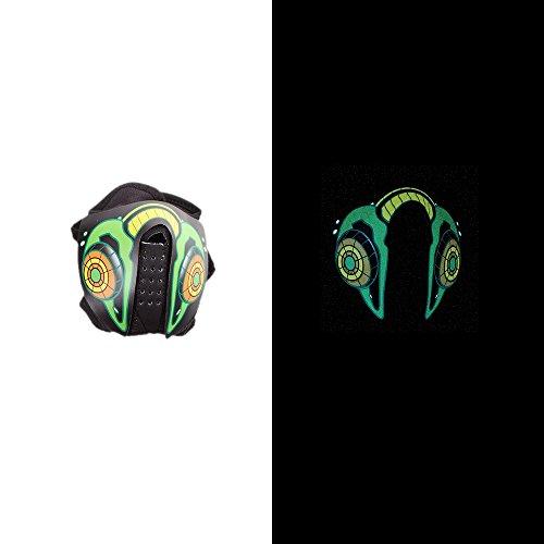 LED Maske Ton aktiviert, die LED Lampe blinkt nach dem Rhythmus der Musik, ideal für Kostüm, Partys, Allerheiligen, Weihnachten , Radfahren, Skifahren und Outdoor Sport (4) (Allerheiligen Party Kostüme)