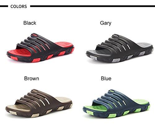 VILOCY , Chaussures de piscine et plage pour homme Noir