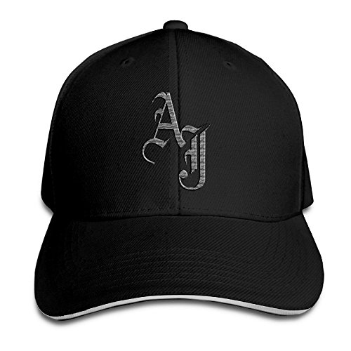 Adjustable Snapback Peaked Cap Baseball Hats Black ()