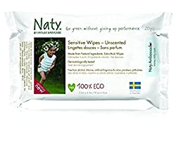 (Pack of 6) : Naty by Nature Babycare Sensitive Travel Wipes 170g (Pack of 6)