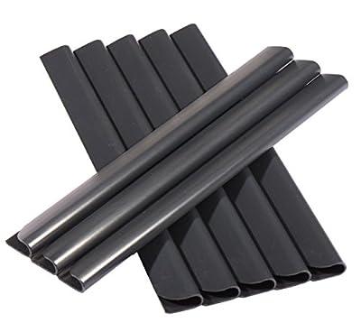 24 Stück PVC - Sichtschutzstreifen Klemmschienen - Befestigungsclips - Anthrazit Universal von Enjoy-Quality - Du und dein Garten