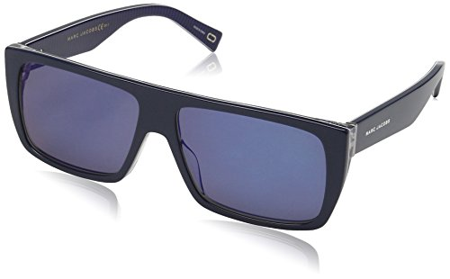 Marc Jacobs Unisex-Erwachsene MARC ICON 096/S XT AVS 57 Sonnenbrille, Striped Blue/Gy Grey,